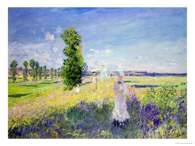The Walk, circa 1872-75 Premium Giclee Print by Claude Monet