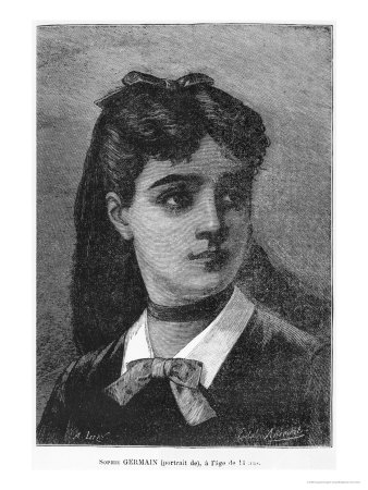 """Sophie Germain Aged 14, Illustration from """"Histoire Du Socialisme,"""" circa 1880 Giclee Print by Auguste Eugene Leray"""