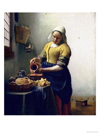 The Milkmaid, circa 1658-60 reproduction procd gicle