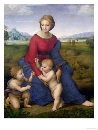 Madonna in the Meadow, 1505 or 1506 reproduction procédé giclée