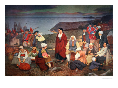The Expulsion of the Acadians in 1755, 1900 Premium Giclee Print by Henri Beau