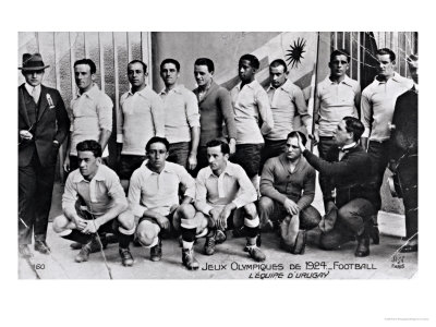 The Uruguay Football Team at the Paris Olympic Games, 1924 Premium Giclee Print