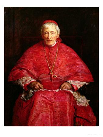 Portrait of Cardinal Newman Premium Giclee Print by John Everett Millais