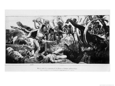 The Mammoth Hunt, circa 1900 Premium Giclee Print by Victor Mikhailovich Vasnetsov