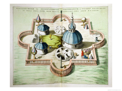 General View of the Observatory of Uraniborg, Constructed circa 1584 by Tycho Brahe Giclee Print by Willem And Joan Blaeu