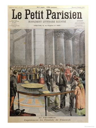 Experiment with Foucault's Pendulum at the Pantheon in Paris Giclee Print by  Carrey