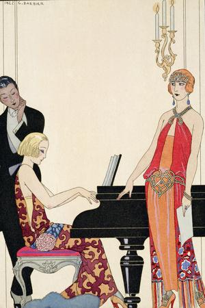 Incantation, Illustration for 'Gazette Du Bon Ton', 1922 (Pochoir Print) Premium Giclee Print by Georges Barbier
