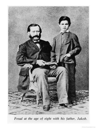 Sigmund Freud at the Age of Eight with His Father Jakob Premium Giclee Print