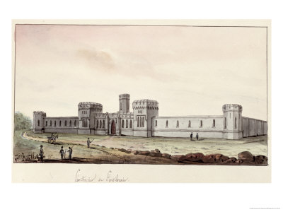 Penitentiary in Pennsylvania, 1831 Premium Giclee Print by Gustave De Beaumont