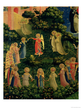 Detail of Heaven from the Last Judgement Premium Giclee Print by  Fra Angelico