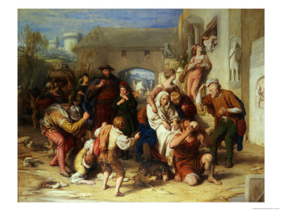 The Seven Ages of Man, 1835-8 Premium Giclee Print by William Mulready