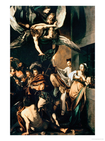 The Seven Works of Mercy, 1607 Premium Giclee Print by  Caravaggio