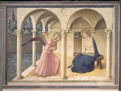 The Annunciation, circa 1438-45 Premium Giclee Print by  Fra Angelico