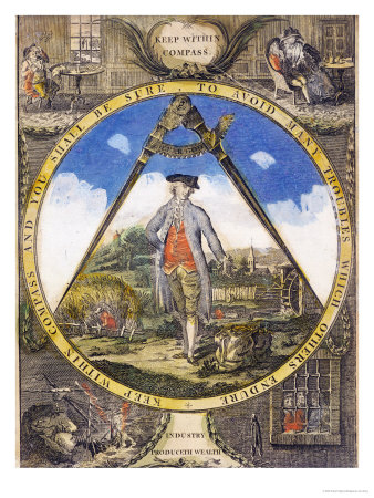 Keep Within the Compass circa 1784 Premium Giclee Print by Robert Dighton