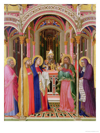 The Presentation in the Temple, 1342 Premium Giclee Print by Ambrogio Lorenzetti
