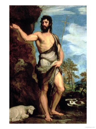 St. John the Baptist Premium Giclee Print by  Titian (Tiziano Vecelli)
