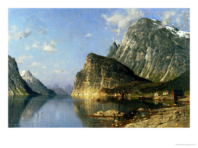 Sogne Fjord, Norway Premium Giclee Print by Adelsteen Normann