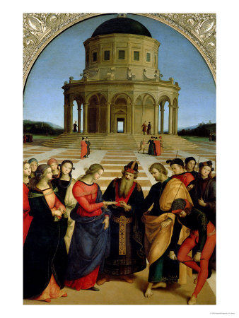 The Marriage of the Virgin, 1504 Giclee Print