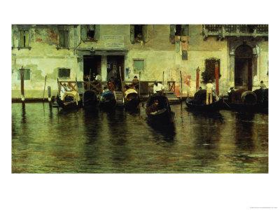 Traghetto Della Maddalena, 1887 Premium Giclee Print by Giacomo Favretto