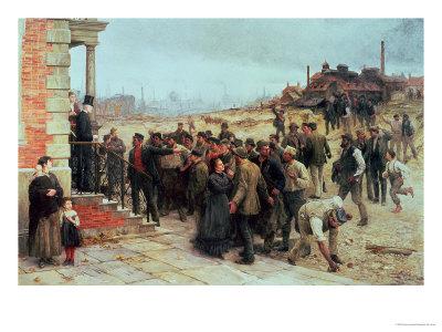 The Strike, 1886 Giclée-tryk