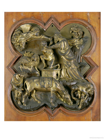 The Sacrifice of Isaac, Bronze Competition Relief for the Baptistry Doors, Florence, 1401 Premium Giclee Print by Filippo Brunelleschi