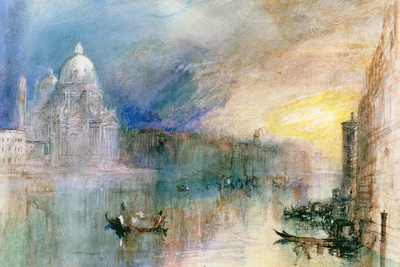 Venice: Grand Canal with Santa Maria Della Salute Premium Giclee Print by J. M. W. Turner