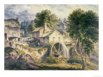 Mill in Bonsall Dale, Derbyshire Premium Giclee Print by John Glover