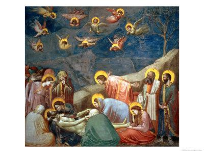 The Lamentation of Christ, circa 1305 Giclée-tryk af  Giotto di Bondone