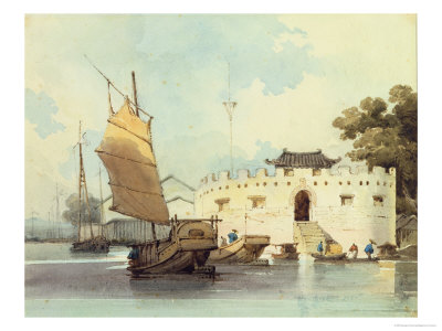 The Dutch Folly Fort off Canton Giclee Print by George Chinnery