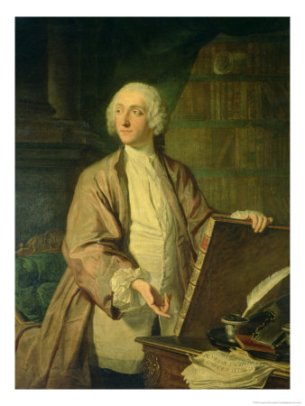 Victor Riquetti, Marquis of Mirabeau, French Economist, 1743 reproduction procédé giclée