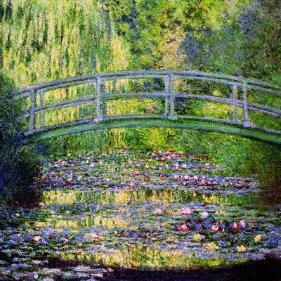 Seerosenteich mit japanischer Brücke, 1899 Giclée-Premiumdruck von Claude Monet