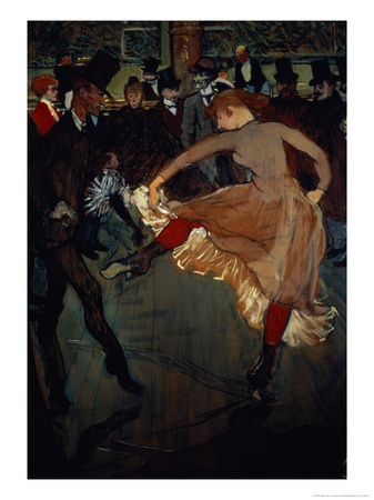The Dance at the Moulin Rouge: Detail Showing Valentin Dessose Premium Giclee Print by Henri de Toulouse-Lautrec