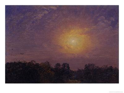 Evening, 1859 Premium Giclee Print by Jasper Francis Cropsey