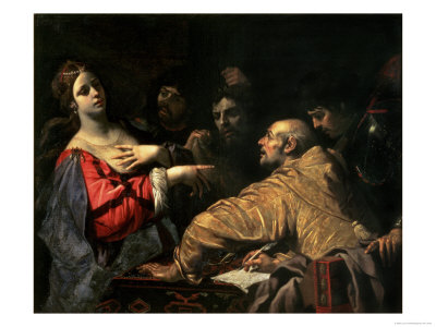 Queen Tomyris with the Head of Cyrus the Great Giclee Print by Luca Ferrari