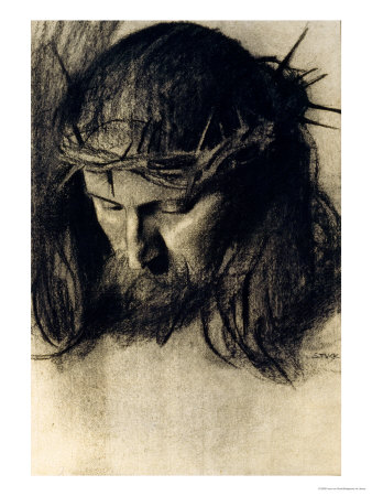 Head of Christ, circa 1890 Premium Giclee Print by Franz von Stuck