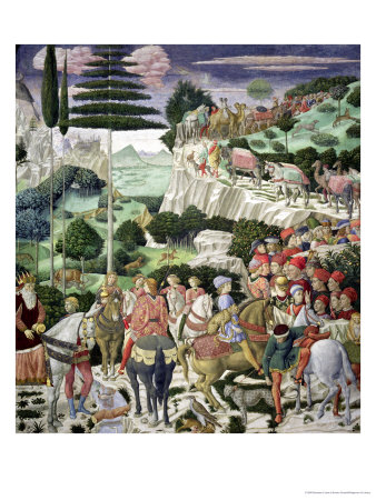 The Journey of the Magi to Bethlehem, the Left Hand Wall of the Chapel, circa 1460 Premium Giclee Print by Benozzo di Lese di Sandro Gozzoli