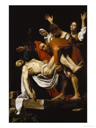 Deposition, 1602-4 Premium Giclee Print by  Caravaggio