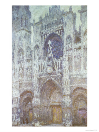 Rouen Cathedral, the West Portal, Dull Weather, 1894 Premium Giclee Print by Claude Monet