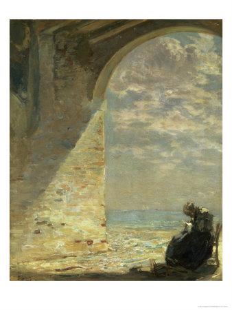 At the Gateway, 1911 Giclee Print by Guglielmo Ciardi