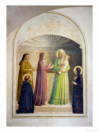 The Presentation in the Temple, 1442 Premium Giclee Print by  Fra Angelico