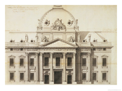 Design for the Ecole Militaire, Paris, 1751 Giclee Print by Jacques-Ange Gabriel