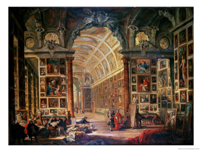 Interior View of the Colonna Gallery, Rome Premium Giclee Print by Giovanni Paolo Pannini