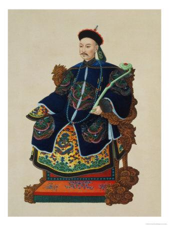Portrait of a Mandarin Premium Giclee Print