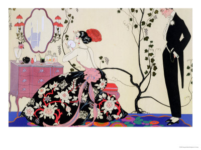The Backless Dress Premium Giclee Print by Georges Barbier
