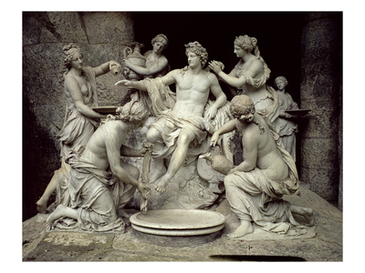Apollo Tended by the Nymphs, Intended for the Grotto of Thetis Premium Giclee Print by Francois Girardon