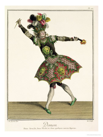 """Costume for a Demon in """"Armide"""" """"Psyche"""" and Several Other Operas Premium Giclee Print by Jean Baptiste Martin"""
