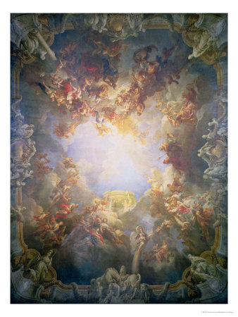 The Apotheosis of Hercules, from the Ceiling of the Salon of Hercules, 1733-6 Giclee Print by Francois Lemoyne