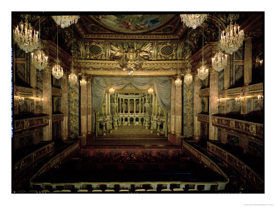 Interior of the Opera House, Completed in 1770 Premium Giclee Print by Jacques-Ange Gabriel
