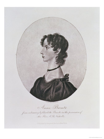Portrait of Anne Bronte from a Drawing in the Possession of the Rev. A. B. Nicholls Premium Giclee Print by Charlotte Bronte