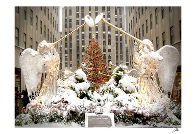 Angels at Rockefeller Center Lámina